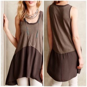 Anthropologie Left of Center high-low tunic tank